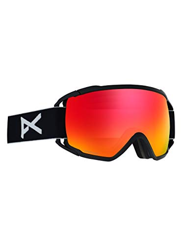 Anon Herren Circuit Snowboardbrille, Black/Sonar Red