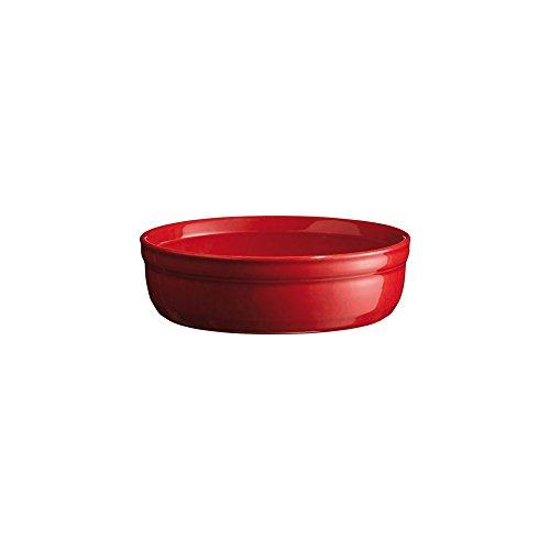 Emile Henry Eh341013 Moule à Crème Brûlée Céramique Rouge Grand Cru 12 X 12 X 4 cm