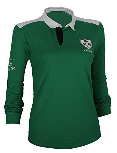 Malham Ladies Cotton Rugby Shirt (16-18) Dark Green