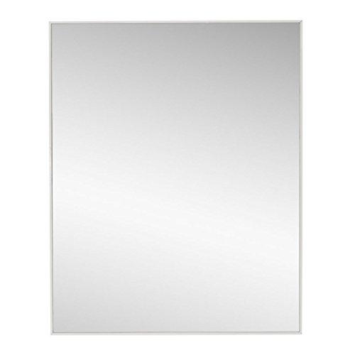 Lola Home Espejo de Pared Moderno Blanco de poliestireno para la Entrada de 40 x 50 cm Basic