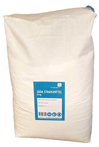 Soda Strahlmittel 25 kg für Soda Blaster Strahlpistolen zum Sandstrahlen mit Natriumbicarbonat (Strahlsoda)
