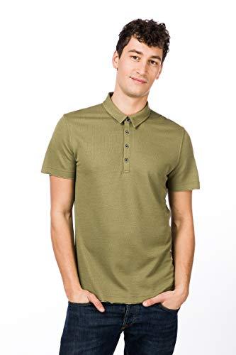 super.natural Herren Piqué Polo Shirt, Mit Merinowolle, M PIQUET POLO, Größe: M, Farbe: Beige