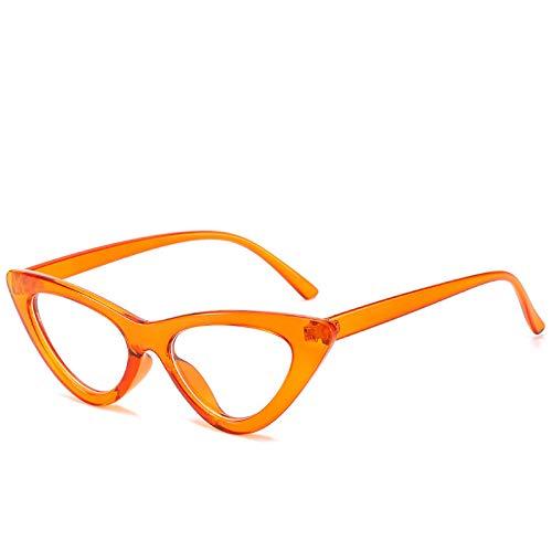 YOULIER Gafas de gato de moda marco femenino tendencia estilo óptico gafas señoras retro transparente gafas de ojo marcos para mujeres 5598-3