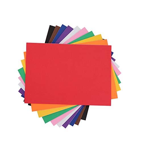 10 Hojas Goma Eva Lisas Adhesivas, A4 2mm para DIY Decorar, Diseñar y Manualidades 🔥