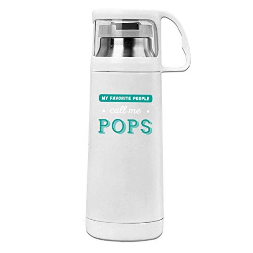 Bestqe Borraccia in Acciaio Inox,Termica Isolamento My Favorite People Call Me Pops 11.8oz Travel Vacuum Insulated Cover Cup Stainless Steel Thermos Cup