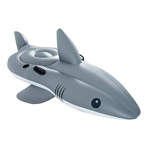 Bestway 41097 Shark Funday Jumbo Floatie, Schwimmtier, 254 x 122 cm
