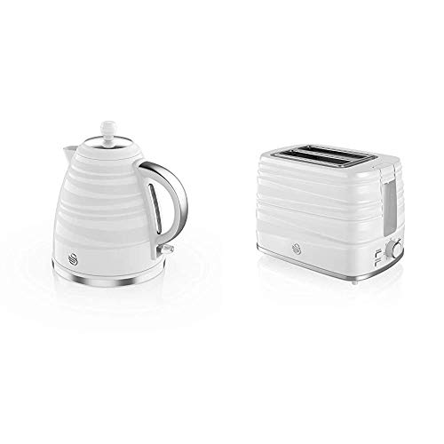 Swan Symphony 1.7 Litre Jug Kettle and 2 Slice Toaster White
