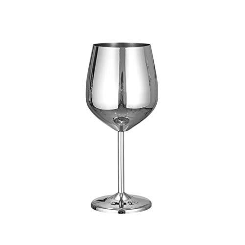 TYI 304 roestvrij staal single-layer beker rode wijn glas voedsel kwaliteit materiaal sterk slijtvast en gemakkelijk te reinigen tekening proces, zilver