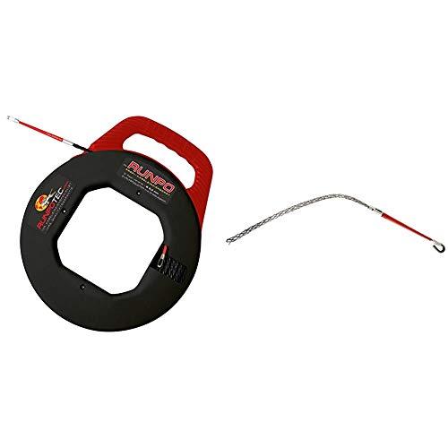 Runpotec 10014 RUNPO 5,3mm verdrillt 30m mit Box (mit Drallausgleich) & 20273 RUNPO Z Kabelziehstrumpf Ø 6-9 mm
