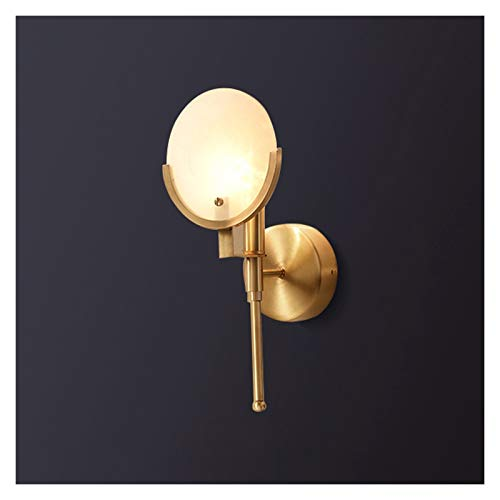 KGDC Wall Lamp Light Luxury Copper Wall Lamp Living Room Wall Light Bedroom Bedside Lamp Postmodern Aisle Staircase Simple Wall Lamp Lighting Fixtures Bedside Reading Lamp (Size : 1PACK)