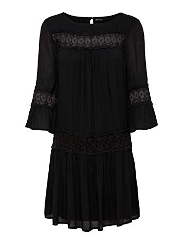 ONLY Damen Kleid Ausgestelltes 36Black