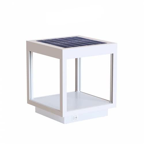 Beneito Faure Visor Solar - Lampada da tavolo a LED a energia solare, in alluminio, 3,5 W, 120°, colore: Bianco