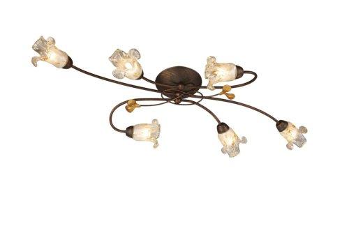 Massive-Plafonnier Lampe (intérieur G9 marron Halogène Métal Blanc Chaud)