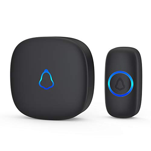 Wireless Doorbell, Waterproof Mini Doorbell 1,000ft Range Loud Enough with 4 Volume Levels and Mute...