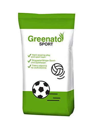 10kg Rasensamen Greenato Sport Sportrasen Sport- und Spielrasen Spiel Rasen Grassamen Rasensaat Gras