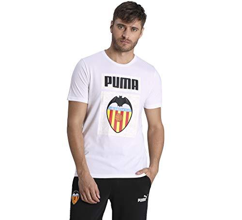 PUMA Vcf Ftblcore Graphic tee Camiseta, Hombre, Puma White/Puma Black, L