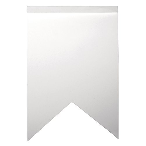 "71913102€""Guirlande en Papier Motif Zigzag Blanc 14 pièces 12 x 17,5 cm"