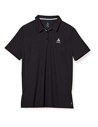 Odlo Polo Shirt s/s F-Dry, Donna, Nero, S