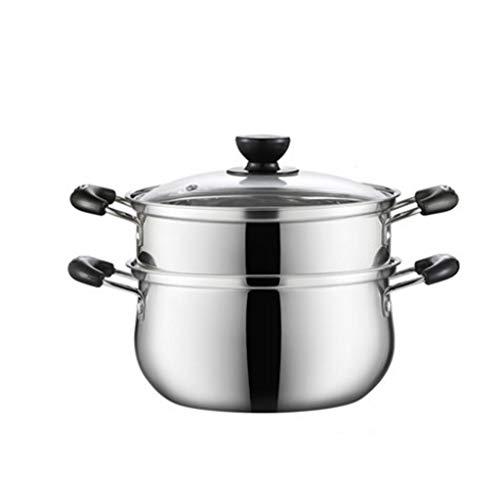 NXYJD Acero Inoxidable Sopa de Olla al Vapor del hogar Cocina de inducción General de Gas Engrosamiento Cocina la Mini Pot