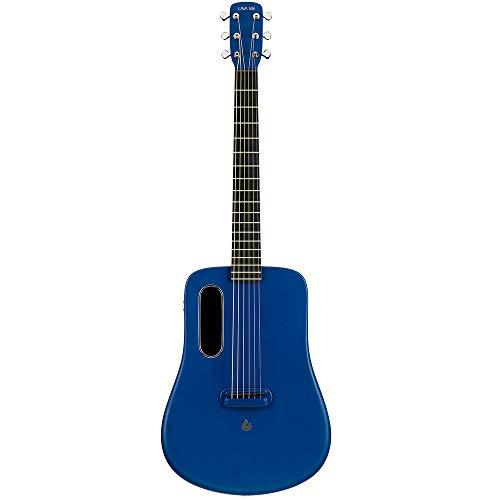 LAVA ME 2 Kohlefaser Gitarre mit Effekten Akustische Elektrische Reisegitarre mit Tasche Picks und Ladekabel (FreeBoost, Blau, 36 Zoll)