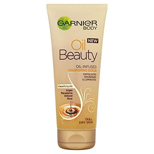 L Oreal Garnier - Scrub corpo nutriente per pelli secche e spente, 200 ml
