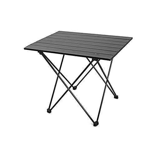 Delisouls Mesa de camping plegable ligera de aleación de aluminio, mesa de camping pequeña al aire libre, ideal para cenar, cortar, cocinar, picnic, al aire libre, cocinar, playa, senderismo, pesca