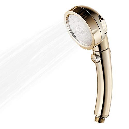 Cabezal de ducha de 3 ajustes de espray con interruptor de pausa ON/OFF ahorro de agua de alta presión de mano