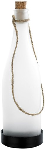 Lunartec Flaschenleuchte: Solar-LED-Lampe Flaschenpost, weiß (Solar Flaschenleuchte)