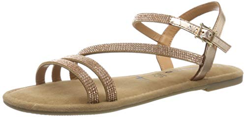 Tamaris Damen 1-1-28113-22 Riemchensandalen, Gold (Copper Glam 929), 40 EU
