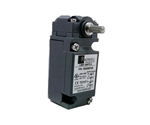 RADWELL RAD00729 Neutral Position, 1/2NPT, DPDT, Limit Switch - Heavy Duty, Standard Body, Rotary Head