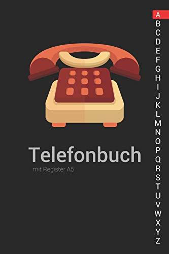Telefonbuch mit Register A5: Telefonbuch zum eintragen