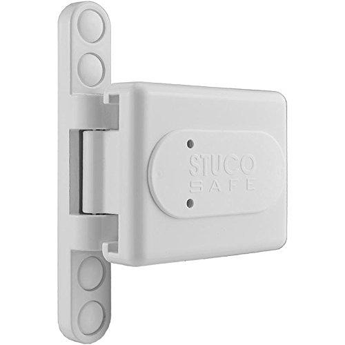Bandseitensicherung Stuco Safe 23SW weiß, geprüfte Scharnierseitensicherung