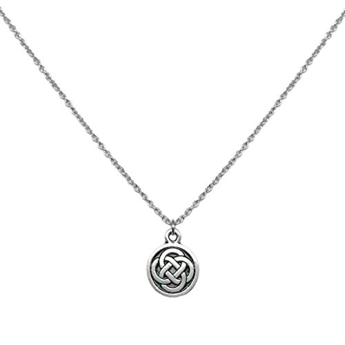 Loralyn Designs Celtic Knot Charm Necklace Stainless Steel Chain (16 Inch)