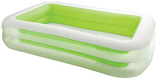 Thumby Centro de Natación Familiar Piscina, 262 * 175 * 56cm, Edades 3 + Piscina for niños Inflable al Aire Libre, Jugar al Billar jianyu (Color : Green)