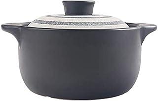 BLLXMX Casseroles Round Ceramic Casserole Clay Pot 2L 3L (Size : 3L)