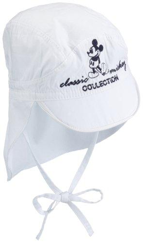 Püttmann - Disney 71614 - Mickey Mütze mit Bindband, Popeline, Peak Stickerei Größe 51 weiß (001), FJSO09