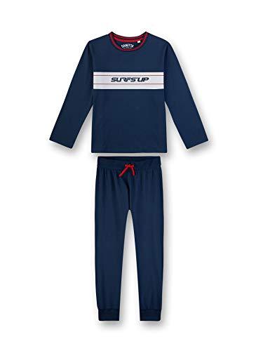 Sanetta Jungen Pyjama lang Zweiteiliger Schlafanzug, Blau (blau 5193), (Herstellergröße:164)