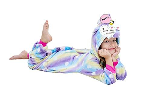 Riverchan Kids Unicorn Onesie Animal Pajamas Halloween Costume (5 Year)