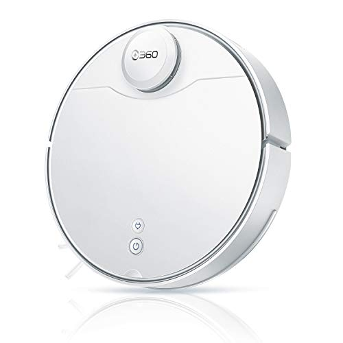 360 S9 Robot Vacuum and Mop, Ultrasonic & LiDAR Dual-Eye, Laser Mapping, 2650 Pa, Low Noise Design, 180 mins Work Time, Intelligent Water Tank, No-Go Zones, Compatible with Alexa