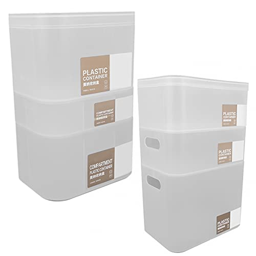 Organizador de cosméticos apilable, que incluye 6 organizadores de almacenamiento Organizador de tocador de baño Diseño apilable para almacenamiento de baño para loción para crema para