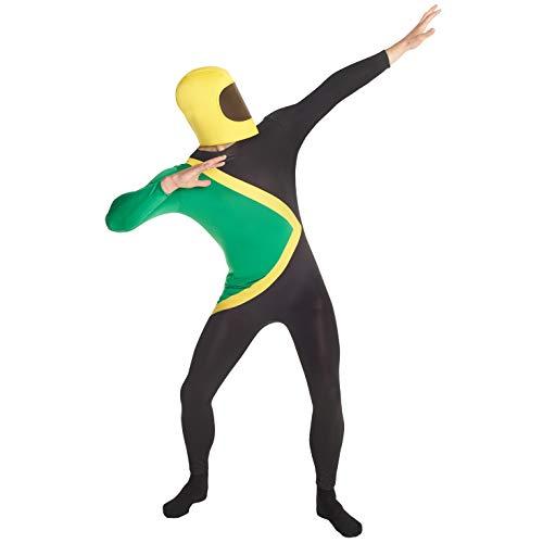 Morph MPJAL Jamaika Morphsuit Kostüm-Ganzkörperanzug, Jamaikanisch Anzug, Large