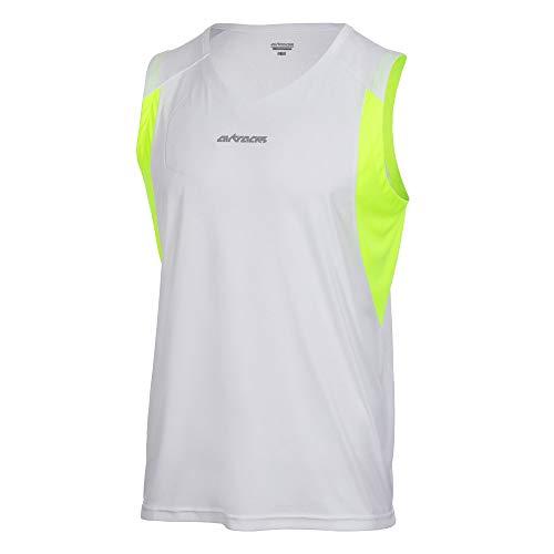 Airtracks Camiseta de tirantes sin mangas Pro Line – blanco neón – XXXL