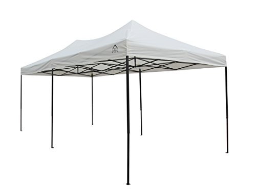 All Seasons Gazebos, Choice of colours, 3x6m (10ft x 20ft) Heavy Duty, Fully Waterproof, PVC Coated, Premium Pop Up Gazebo + Carry Bag With Wheels & 4 x Superior Leg Weight bags. (Cream)