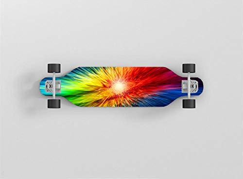 Skateboard Komplettboard ABEC-7 Kugellager 9-Lagigem Ahornholz Für Kinder Jungendliche Und Erwachsene.-Helles Licht-80X20Cm