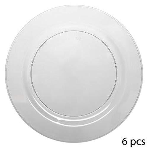 FIVE Simply Smart - Lot de 6 Assiettes Rondes Plastique\