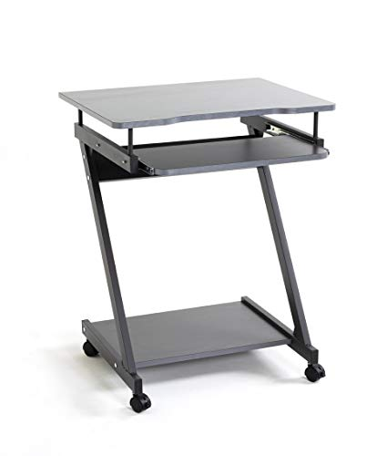 Haku-Möbel Carrello per Computer, Metallo, Antracite, T 49 x B 60 x H 76 cm