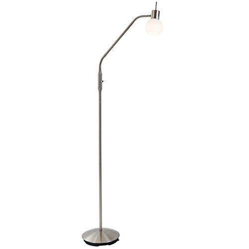 Preisvergleich Produktbild LED Stehleuchte 1-flg. Loxy Nickel, Glas opal matt weiss