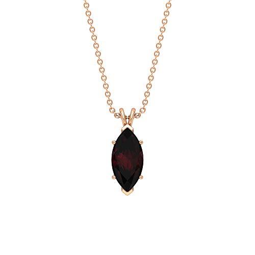Rosec Jewels 18 quilates oro rosa marquesa Red Garnet