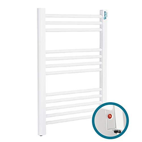 farho Heizkörper Handtuchwärmer Elektrisch NOVA ECO SMALL Weiß ·· Elektrobadheizkörper Handtuchtrockner · 250 Watts · (700 x 500 mm)