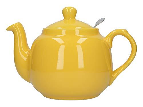 London Pottery Farmhouse - Teiera con infusore, in ceramica, giallo, 4 tazze (1,2 litri)